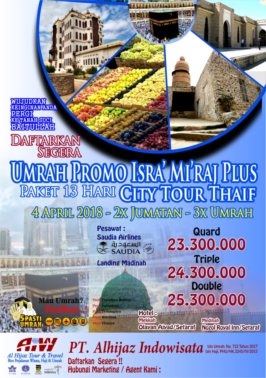 umroh promo april 2018 plus thaif